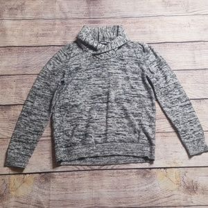 Express L gray cotton collared sweater